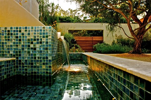 Pool Tile Water Fountain : Garden fountain design ideas landscaping network