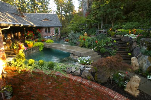 Landscapes by Day & Night - Landscaping Network on Front Yard Pond id=53195