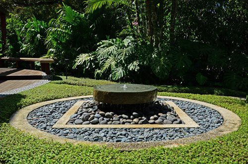 Garden fountain design ideas landscaping network - How to build an outdoor fountain with rocks ...
