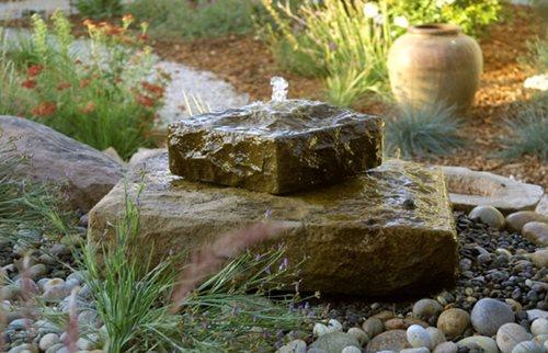 rock fountain garden fountain