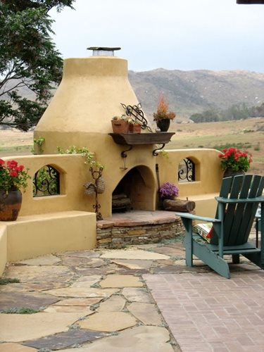 Cost of an outdoor fireplace landscaping network for Adobe home design