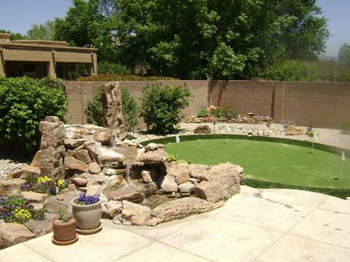 backyard putting green ideas landscaping network