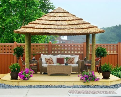 plans a pergola with roof