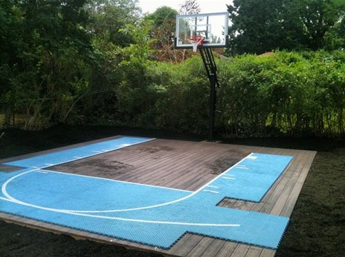 Flex court sport courts landscaping network for Custom basketball court cost