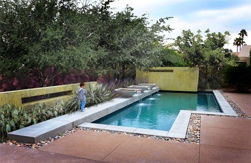 Modern pool built in arizona landscaping network for Pool design az