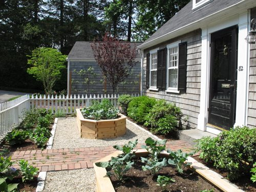 Front Yard Vegetable Garden In Wellesley Ma Landscaping