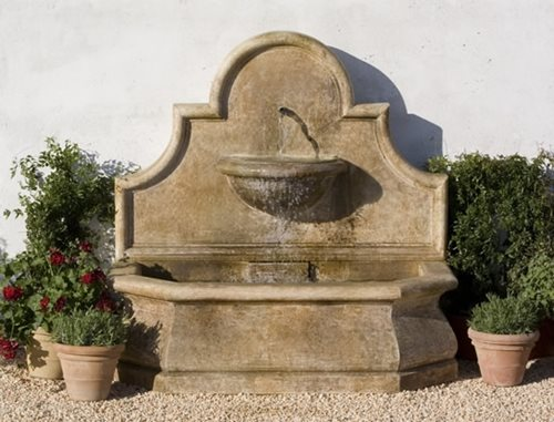Outdoor wall fountain designs landscaping network for Outdoor wall fountains