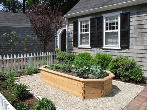 Front Yard Vegetable Garden in Wellesley, MA - Landscaping ...