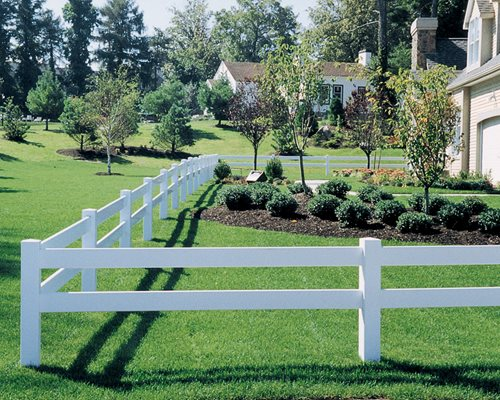 rail fence brings this rural look into suburban homes without the cost