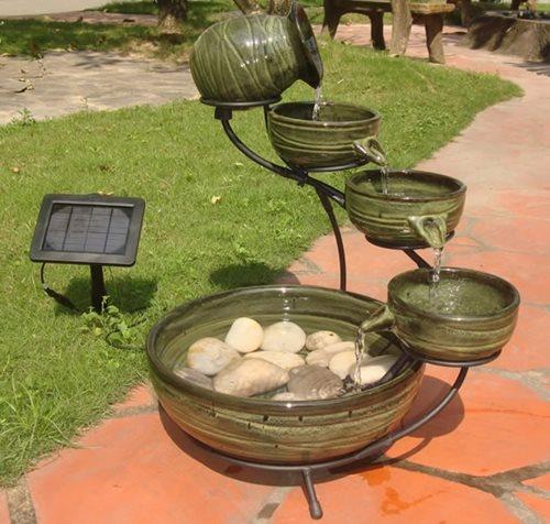 solar garden fountains pros cons landscaping network