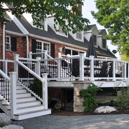colonial-deck-white-deck-railing-milieu-design_3190 Multi Level House Porches Designs on patio porches, ranch porches, creative porches, single wide porches, fireplace porches, colonial porches, two-level porches, balcony porches, cabin porches, double wide porches, craftsman porches, detached porches, cottage porches, double level porches, traditional porches, two story porches, victorian porches, decks and screened porches, antique porches, french country porches,