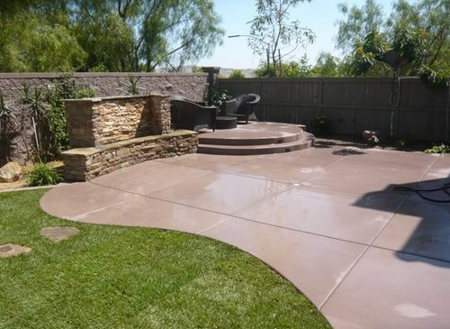 backyard concrete ideas  garden home, Backyard Ideas