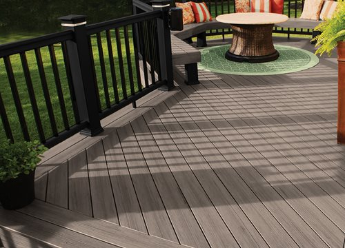 Trex Decking Gray : Deck cost landscaping network