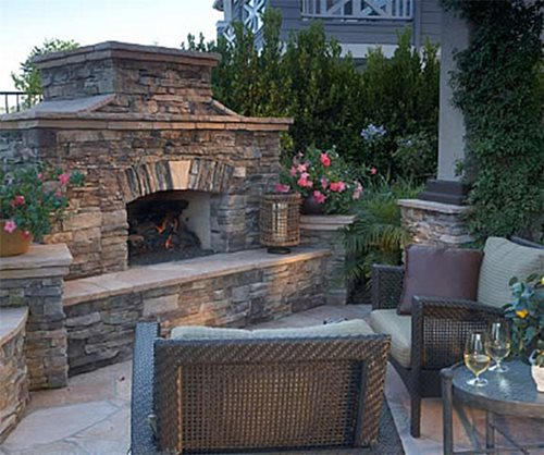 outdoor fireplace features landscaping network