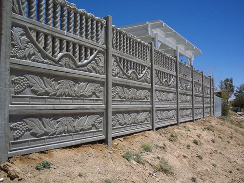 Concrete Fence Walls : Precast concrete fencing landscaping network