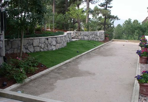 Backyard Bocce Ball Court Design : backyard bocce