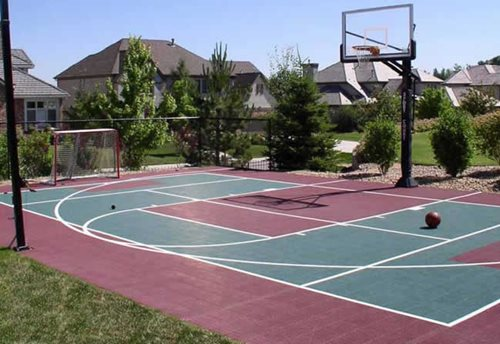 Merveilleux Backyard Basketball Court