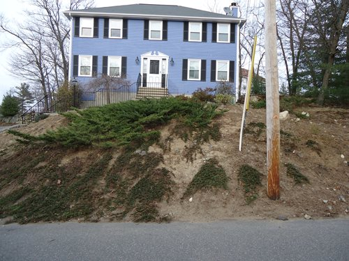 Massachusetts Sloping Front Yard Landscaping Network