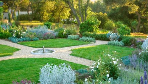 English Garden Designs feature clock Genevieve Schmidt Landscape Design And Fine Maintenance In Arcata Ca English Garden