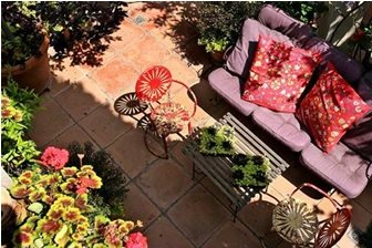 Creating The Appeal Of A Mexican Patio Is All About Accessorizing With  Color.