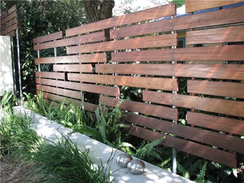 Modern fencing walls landscaping network Wood garden fence designs