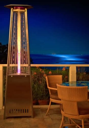 A Lava Heater Is Great For Warming Outdoor Dining Spaces Well Into The  Evening.