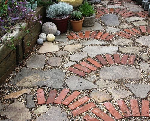 Permeable patio home design ideas and pictures for Recycled building materials los angeles