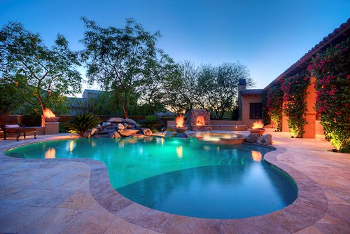 Lush Mediterranean Landscape In Arizona Landscaping Network