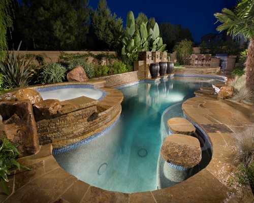 Swimming pool cost pricing landscaping network for Luxury swimming pools