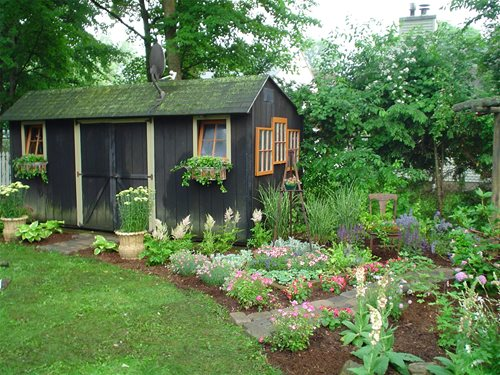Pictures Of Backyard Garden Sheds : Backyard Garden Sheds  Landscaping Network