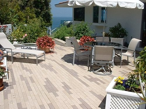 Narrow Modern Pavers Landscaping Network