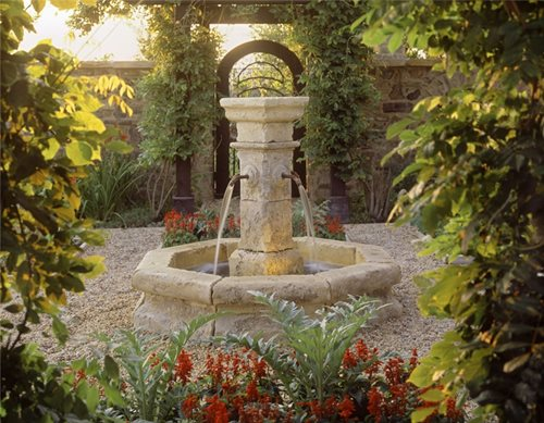 Formal landscape arizona backyard landscaping pictures az Water fountain landscaping ideas