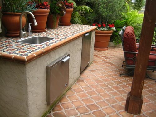 Selecting outdoor tile landscaping network - Spanish floor tile designs ...