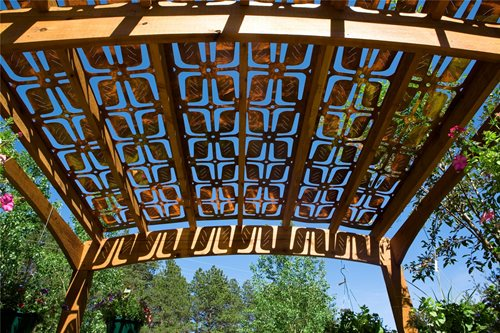 Parasoleil panels provide shade landscaping network for Metal sun shade structures