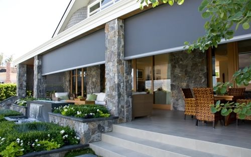Porch cost landscaping network for Motorized screens for patios pricing