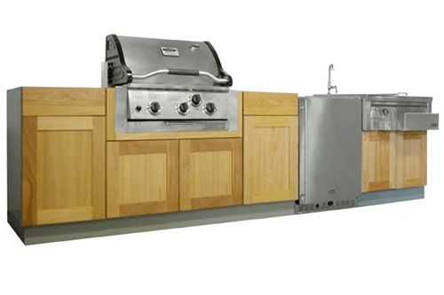 outdoor kitchen cupboards and appliances