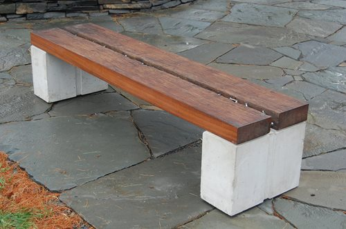 Wood Concrete Amp Metal Benches Landscaping Network