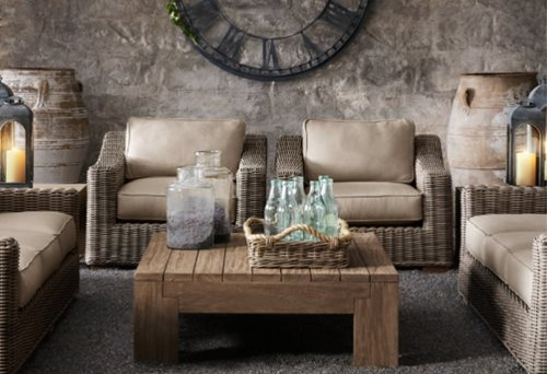 Superb Wicker Patio Furniture. Restoration Hardware.