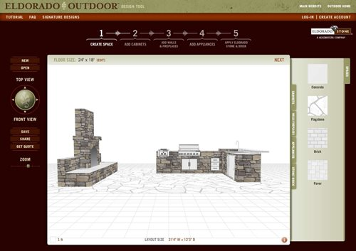 outdoor design tool from eldorado stone landscaping network