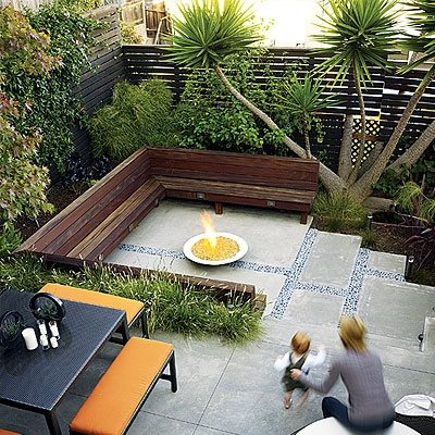 Small backyard design landscaping network for Small backyard privacy ideas