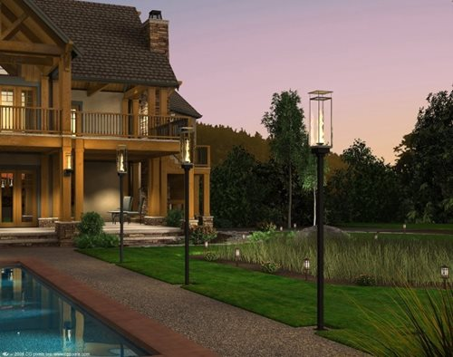 Outdoor Gas Lighting Landscaping Network
