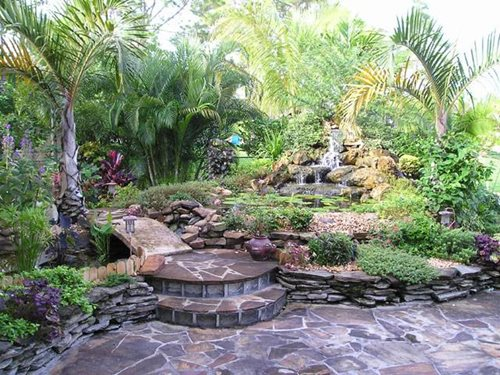 Tropical Back Yard Landscape Ideas 500 x 375