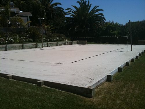 Backyard Sand Volleyball Court : Volleyball ? Backyard Games  Landscaping Network