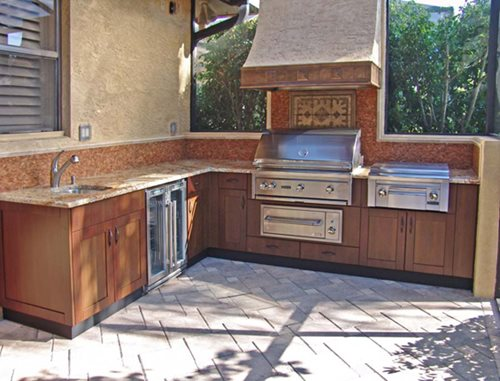Steel Outdoor Cabinets : Outdoor kitchen cabinets landscaping network