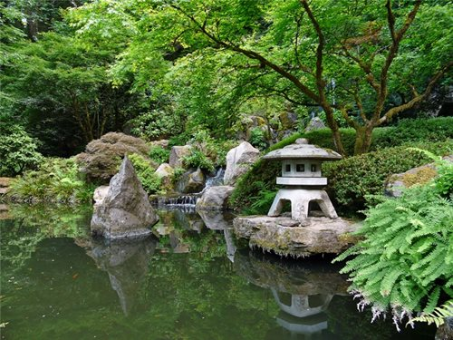 Asian garden design fire house beautiful design for Japanese koi pond garden