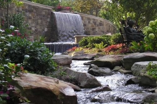 Garden pond design ideas landscaping network for Backyard streams and waterfalls