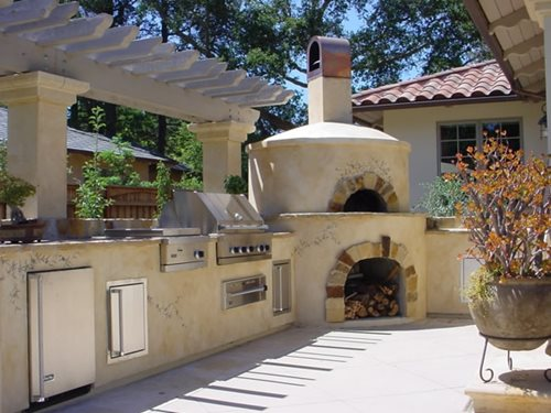 outdoor pizza oven casual cottage
