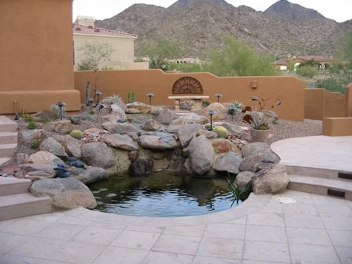 Outdoor living in sedona landscaping network for Az pond and pool