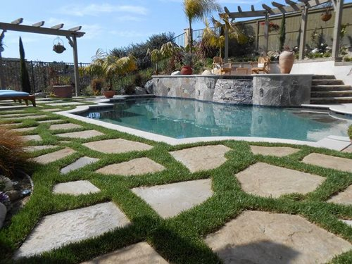 Terraced Backyard Pool : San Diego contractor specializes in updating backyards with fire
