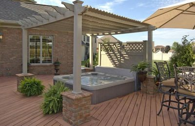 Deck designs and ideas for backyards and front yards for Spa deck design
